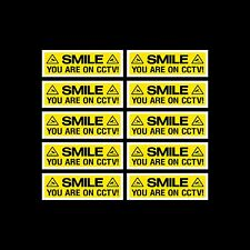 CCTV Sign, Sticker Pack of 10 - 300mm x 100mm - Security, Camera - (MISC3)