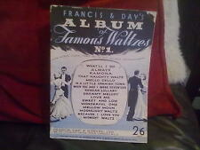 Francis & Day's Album of Famous Waltzes No.1 Paperback English Classical Music
