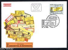 AUSTRIA 1 BUSTA PRIMO GIORNO FDC ETICHETTA 1985