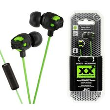 JVC HA-FR201G In Ear Stereo Headphones Remote & Mic HAFR201 Green /GENUINE