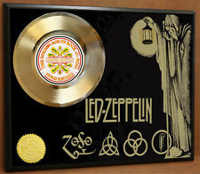 LED ZEPPELIN LTD EDITION POSTER ART GOLD RECORD MUSIC MEMORABILIA FREE SHIPPING