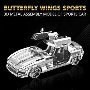 3D Metal Assembled Models DIY Puzzles  Sports Car Models Desktop Decoration