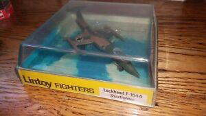 "Vintage Schuco/ Lintoy Fighters ""Lockhead F-104A Starfighter"" metal die-cast MT"