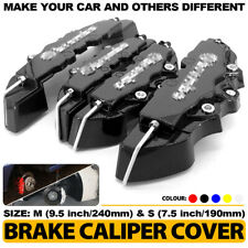4Pcs BK 3D Brake Caliper Covers Style Disc Universal Car Front Rear Kits CY01