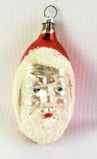 Vintage Glass Santa Claus Christmas Ornament