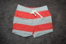 Baby Gap Striped Red and Grey Shorts Pull On 100% Cotton Age 0-3 Months BNWT