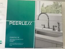 Peerless 2-Handle Kitchen Faucet with Side Spray 4-Hole Chrome NEW