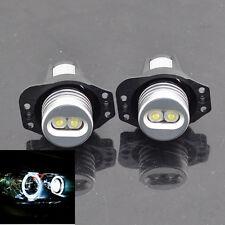 2X 6W CREE WHITE ANGEL EYES LED HALO Ring Marker for  BMW E90 E91 325i 328i 335i