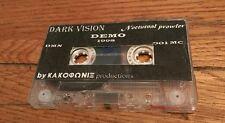 1998 demo cassette  DARK VISION Nocturnal Prowler Death Black Heavy Metal Import