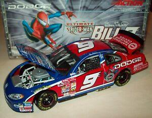 Bill Elliott 2001 Spiderman #9 Evernham Dodge Intrepid R/T 1/24 NASCAR Diecast
