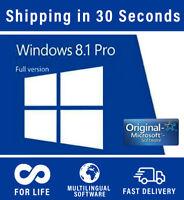 Microsoft Windows 8.1 Professional - 32/64 bit - Multilingual - 100% Original
