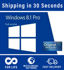 Microsoft Windows 8.1 Professional - 32/64 bit - Multilingual - 100% Original