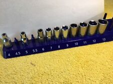 Craftsman 1/4 Drive Metric Sockets Shallow ~ 4mm-13mm ~ 10pc. All USA.  L-418