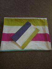 Multi coloured Strip Single Duvet Set