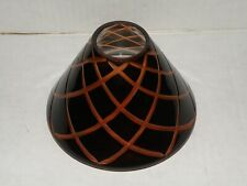 YANKEE CANDLE HARLEQUIN GLASS JAR CANDLE SHADE BRAND NEW IN BOX