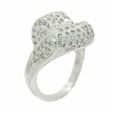 18K White Gold 2.0 Ct Diamond Ring 13.9 Grams Ring Size 7.5