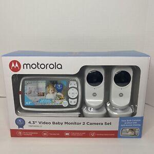 "Motorola MBP483XL-2 4.3"" Video Baby Monitor 2 Camera Set - Brand New"
