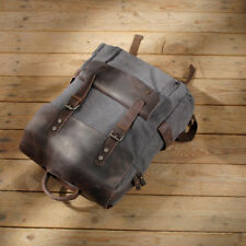 Vintage Men's Canvas Leather Backpack Casual Bookbag Laptop Travel Rucksack