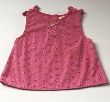 Girls 24 Months Strawberry Theme Pink Eyelet Embroidered Top