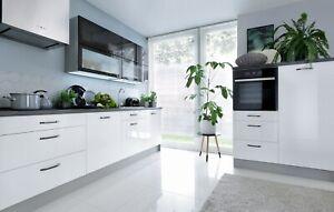 TOP LINE kitchen set, complete kitchen set, white high gloss kitchen set