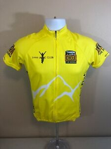 Cycle The Sierra 1000 Mile Club Primal Cycling Jersey Mens XS Yellow