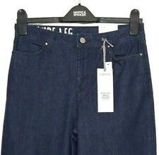 46 vita 33 Gamba Premium Misto Lino Blu Scuro Pantaloni Marks and Spencer