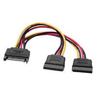 20cm Internes PC Y-Stromkabel SATA Kupplung Verteiler zu 2x SATA Stecker