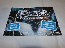 SAXON - Petite Publicité de magazine / Advert ROCK THE NATIONS !!!
