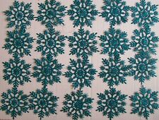 20 TEAL SNOW FLAKES - CHRISTMAS ORNAMENT - FREE SHIPPING