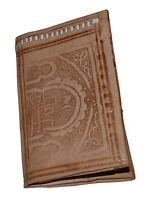 Wallet Moroccan Coin Leather Genuine Tooled Bi-fold Handmade Pocket Unisex Large
