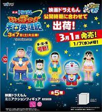 Taito Miniature Japan Doreamon The Movie Figure Full Set of 5 pcs