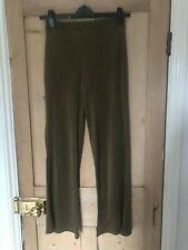 Zara Gold sheer flared trousers size 10 new without tags
