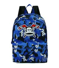 PAUL FRANK - JULIUS MONKEY PATTERNED SCHOOL BACKPACK - BLUE