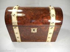 Walnut Victorian Antique Wooden Tea Caddies