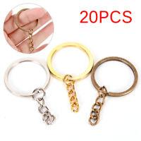 20X DIY Key Rings Key Chain Split Ring Short Chain Key Holder Key Rings 30mm iv