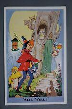 R&L Postcard: J Salmon, L Steele, Fantasy Animals, Owl, Rabbit