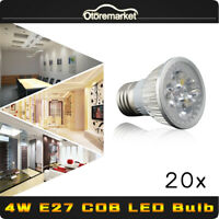 4W COB LED E27 Energy Saving Cool White Light Bulb Super Bright Lamp 110V-240V