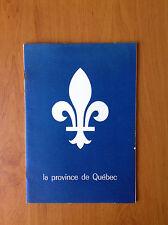 La Province de Québec, exposition Paris 1958, Office Provincial de Publicité