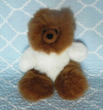 New 100% Baby Alpaca 12� Teddy Bear Soft Fluffy Cuddly White and Brown Sublime