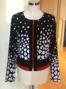 Picadilly Jacket Size L / 16 BNWT Black White Red RRP £111 Now £49