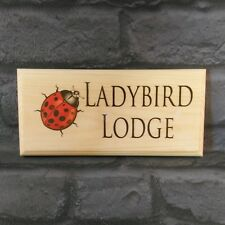 Personalised Ladybird Plaque / Sign / Gift - House Name Number Garden Shed Nan