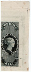 (I.B) Ceylon Revenue : Foreign Bill (Original Die Proof)