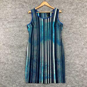 Marc New York Womens Dress Size 12 Multicoloured Striped Sleeveless Zip 71.07
