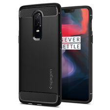 For OnePlus 6 | Spigen® [Rugged Armor] Black Shockproof Protective Case Cover