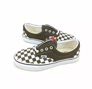 NEW Vans Era Checkerboard Green White Skate Shoes Sneakers Womens Size 7.5 OTW