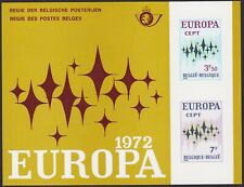 Belgium 1972 Special Proof Sheet EUROPA Issue FEUILLET DE LUXE Cob LX60....A4858