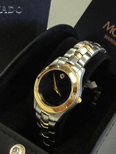 AUTHENTIC 81-E1-1861 MOVADO MUSEUM  SWISS 2-TONE SILVER GOLD WOMEN'S WATCH $1095