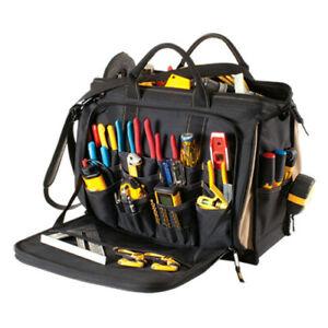 """CLC 1539 - 58 Pocket Large 18"""" Multi-Compartment Tool Bag Carrier Shoulder Strap"""