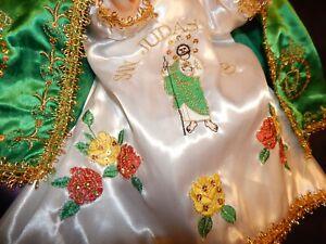 nino dios Hermoso Vestido San Judas Tadeo/ baby jesus deluxe dress medida 35 cms