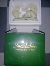 Vintage Snowbabies Where Did He Go? Snowman w/ Original Box Department 56